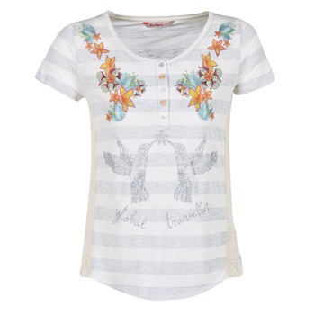 material Women short-sleeved t-shirts Desigual TEDIREA White