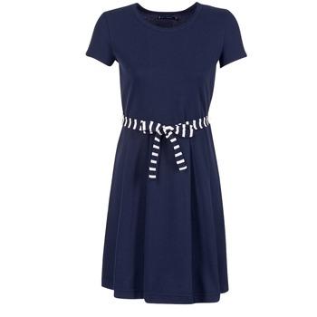 material Women Short Dresses Petit Bateau FLARE Marine