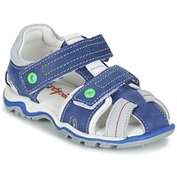 Shoes Boy Sandals Babybotte KARTER Blue / Green / Grey