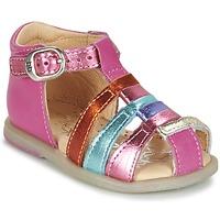 Shoes Girl Ballerinas Babybotte TIKALOU Pink / Multicoloured