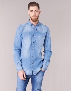 material Men long-sleeved shirts Diesel D CARRY Blue