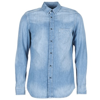 material Men long-sleeved shirts Diesel D CARRY Blue