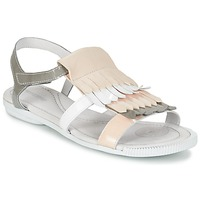 Shoes Women Sandals Pataugas CANDY/V F2C White / Grey / Pink