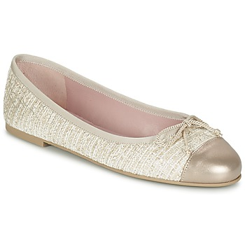 Shoes Women Ballerinas Pretty Ballerinas AMI Gold / Pink