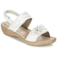 Shoes Women Sandals Rieker MIOLOI White