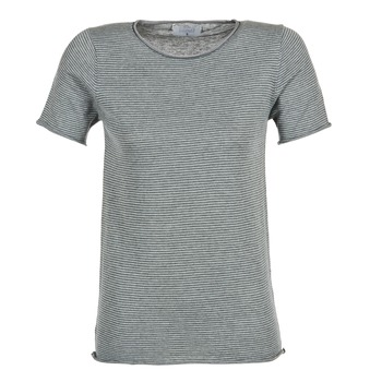 material Women short-sleeved t-shirts Casual Attitude GENIUS Grey