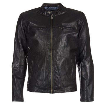 material Men Leather jackets / Imitation le Pepe jeans LENNON Black