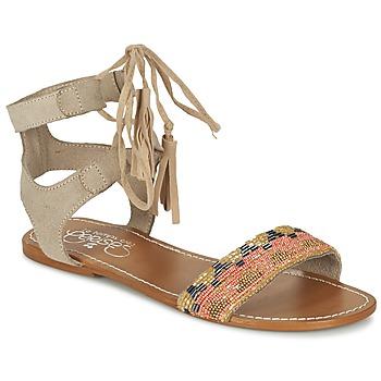 Shoes Women Sandals Le Temps des Cerises KAMPUR BEIGE