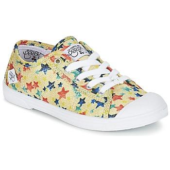 Shoes Girl Low top trainers Le Temps des Cerises BASIC 02 Yellow