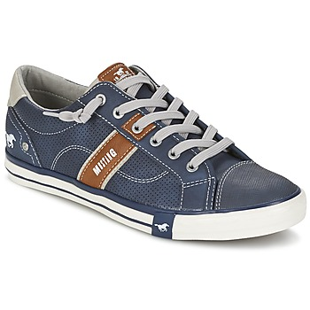 Shoes Men Low top trainers Mustang FALA Marine