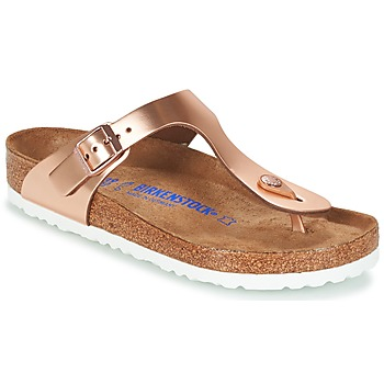 Shoes Women Flip flops Birkenstock GIZEH SFB Bronze