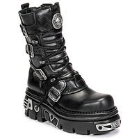 Shoes Women Mid boots New Rock NEMESIS Black