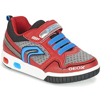 Shoes Boy Low top trainers Geox J GREGG B Red / Blue