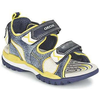 Shoes Boy Sports sandals Geox J BOREALIS B. D Marine / Citron