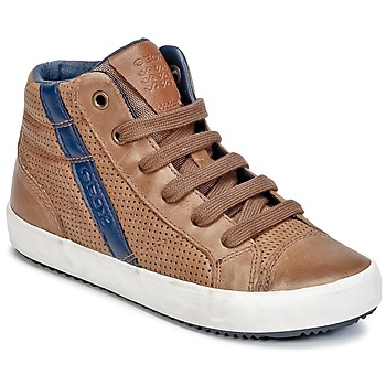 Shoes Boy High top trainers Geox J ALONISSO B. B Cognac