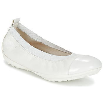 Shoes Girl Ballerinas Geox J PIUMA BALL B White
