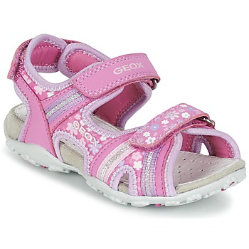 Shoes Girl Sports sandals Geox J S.ROXANNE A Pink