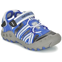 Shoes Boy Sports sandals Geox J SAND.KYLE C Blue / White