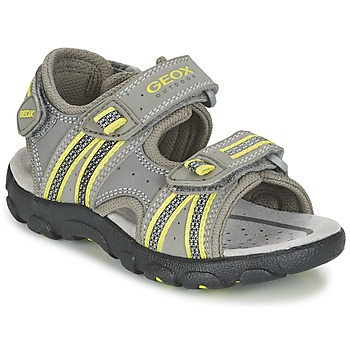 Shoes Boy Sports sandals Geox J S.STRADA A Grey / Green