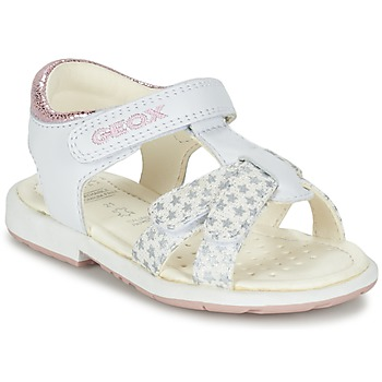 Shoes Girl Sandals Geox B SAN.VERRED D White