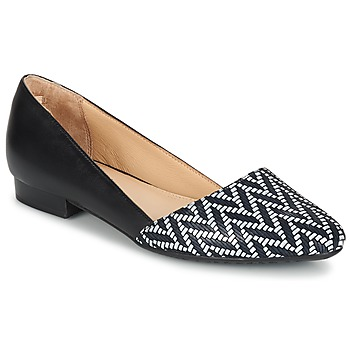 Shoes Women Ballerinas Hush puppies JOVANNA Black / White