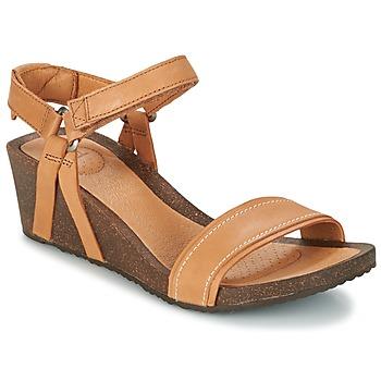 Shoes Women Sandals Teva YSIDRO STITCH WEDGE Cognac