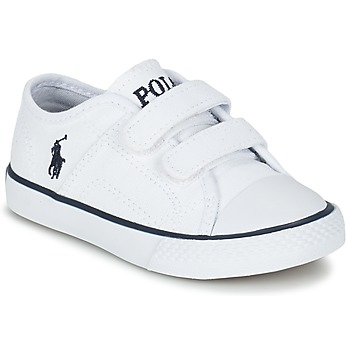 Shoes Children Low top trainers Ralph Lauren DYLAND EZ White