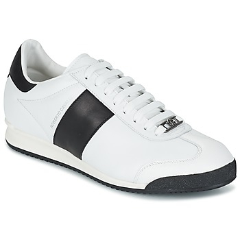 Shoes Men Low top trainers Roberto Cavalli 2042C White / Black