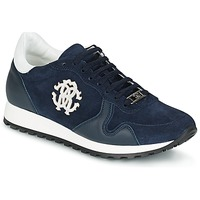 Shoes Men Low top trainers Roberto Cavalli 2058A Marine