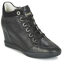 Shoes Women High top trainers Geox ELENI C Black