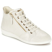 Shoes Women High top trainers Geox MYRIA White
