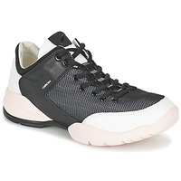 Shoes Women Low top trainers Geox SFINGE A Black / White