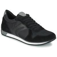 Shoes Men Low top trainers Geox VINTO C Black