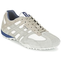 Shoes Men Low top trainers Geox SNAKE Grey / White
