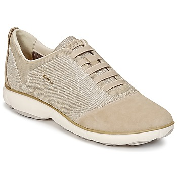 Shoes Women Low top trainers Geox D NEBULA G Taupe