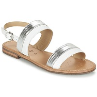 Shoes Women Sandals Geox D SOZY F Silver / White
