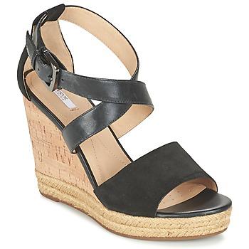 Shoes Women Sandals Geox D JANIRA E Black