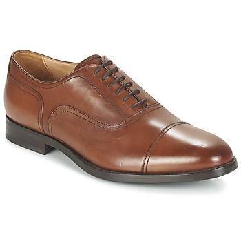 Shoes Men Brogue shoes Geox U HAMPSTEAD C COGNAC