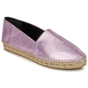 Shoes Women Espadrilles Kenzo TIGER METALIC SYNTHETIC LEATHER Pink