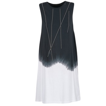 material Women Short Dresses Replay WOOPINA Black / White