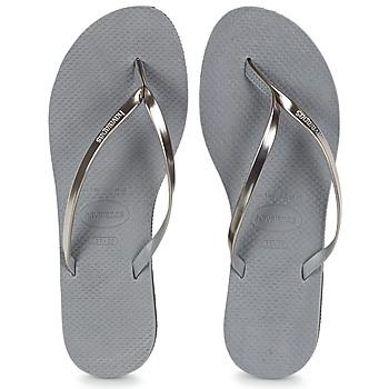 Shoes Women Flip flops Havaianas YOU METALLIC Grey