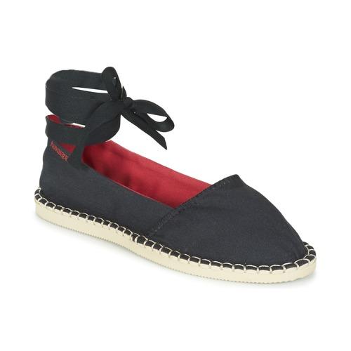 Shoes Women Espadrilles Havaianas ORIGINE SLIM Black