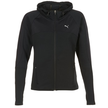 material Women sweatpants Puma TRANSITION JKT Black
