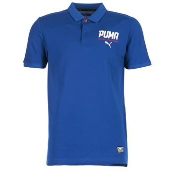 material Men short-sleeved polo shirts Puma STYLE TEC POLO Blue