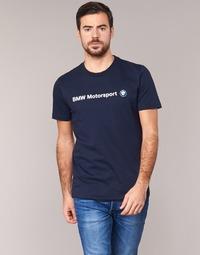 material Men short-sleeved t-shirts Puma BMW MSP LOGO TEE Marine