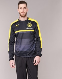 material Men sweatpants Puma BVB TRAINING SWEAT Black / Yellow