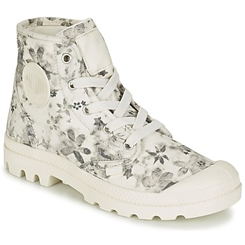 Shoes Women Mid boots Palladium US PAMPA HI F Ecru