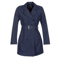 material Women Trench coats Geox CREM MARINE