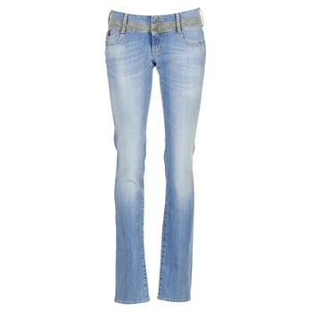 material Women straight jeans Le Temps des Cerises 220 Blue / Clear