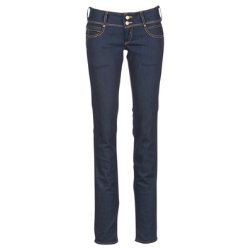 material Women straight jeans Le Temps des Cerises 220 Blue / Raw